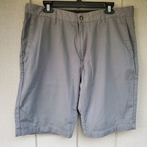 Volcom men's gray flat front shorts size 36